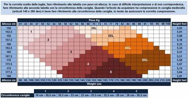 mérettáblázat 70 den-es harisnya