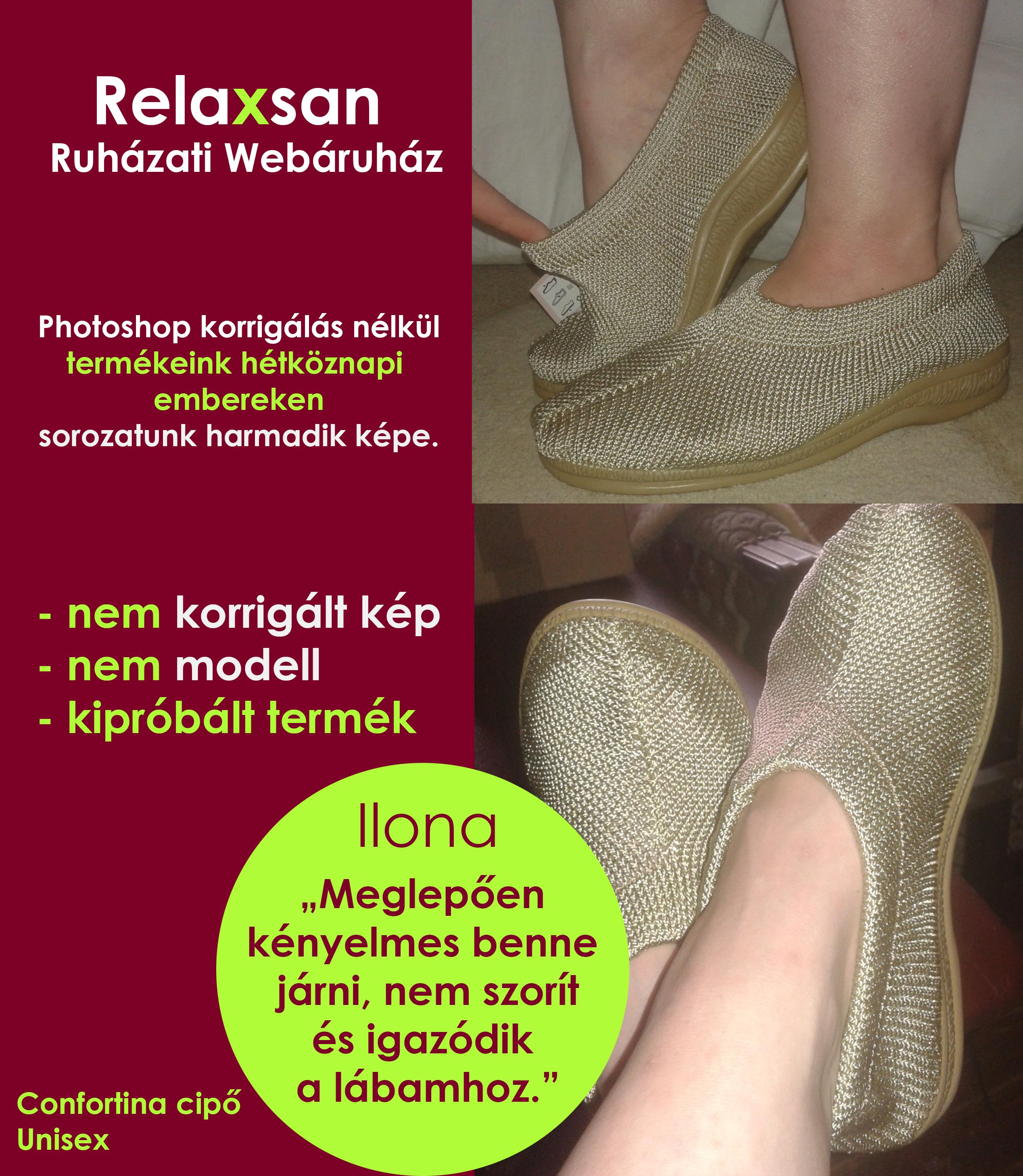 confortina kényelmi cipő hétköznapi embereken